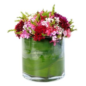 Jarra de Vidro com Mistura de Flores-0
